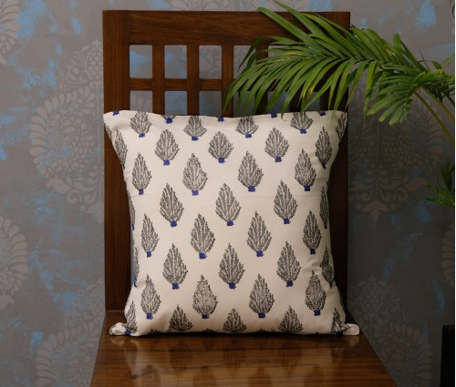 "DABU COTTON CUSHION COVER (16""X16"")"