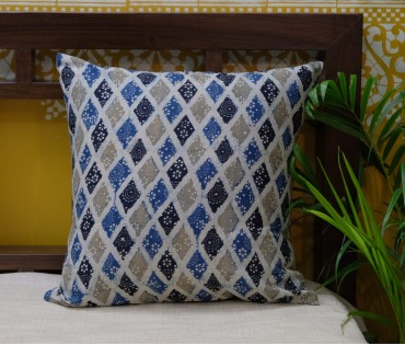 Ajrakh Mutli Color Cotton Cushion Cover (16