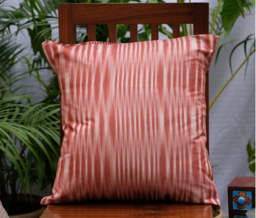 "Brown Ikat ( Katki) Cushion Cover (20""x20"")"