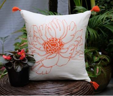 """Zehrat Cotton Cushion Cover (16""""x16"""")"""