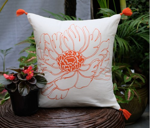 "ZEHRAT COTTON CUSHION COVER (16""X16"")"