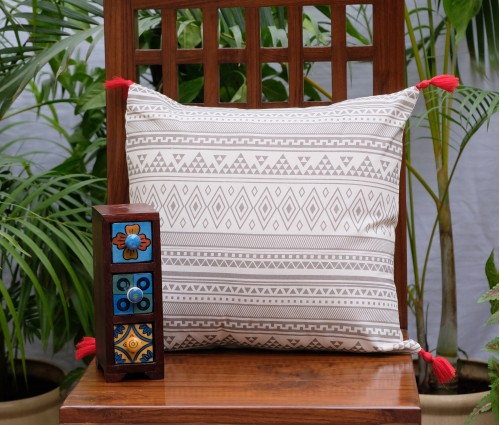 "Ashkal Cotton Cushion Cover (16""x16"")"
