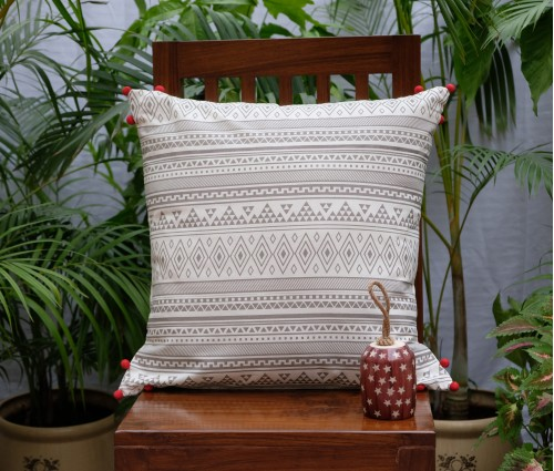 "ASHKAL COTTON CUSHION COVER (20""X20"")"