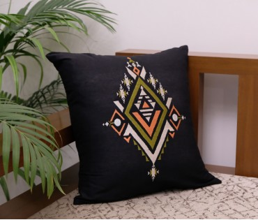 "BLACK DIAMOND EMB CUSHION COVER (16""X16"")"