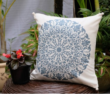 "Mandala Cotton Cushion Cover (16""x16"")"