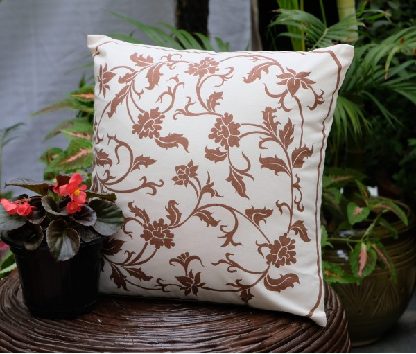 "ORIENTAL COTTON CUSHION COVER (16""X16"")"