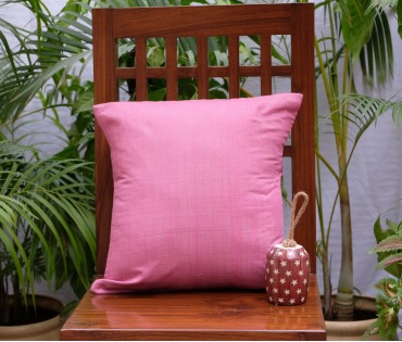 "PINK KANTHA CUSHION COVER (16""x16"")"