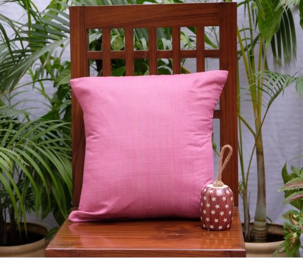 "Pink Kantha Cushion Cover (16""x16"")"
