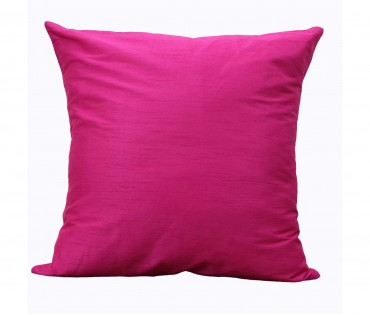 "Solid Fuchsia Poly Dupion Cushion Cover 20""x20"""