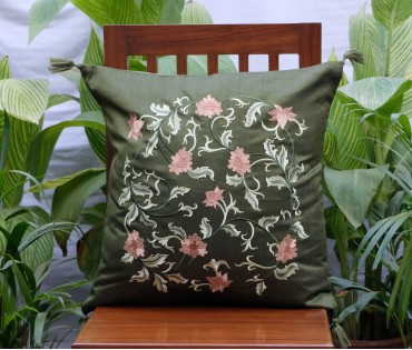 Oriental Embroidered Cushion Cover (50x50 Cm)