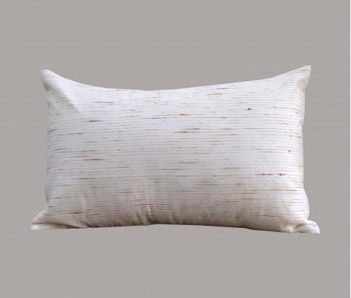 """Cream Jute Kantha Cotton Cushion Cover 12""""X18"""""""