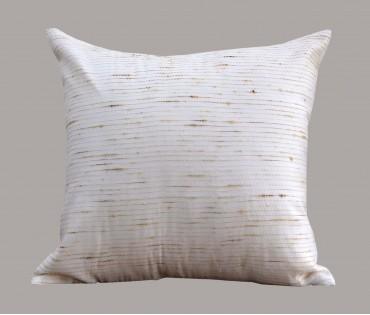 """Cream Jute Kantha Cotton Cushion Cover 16""""x16"""""""