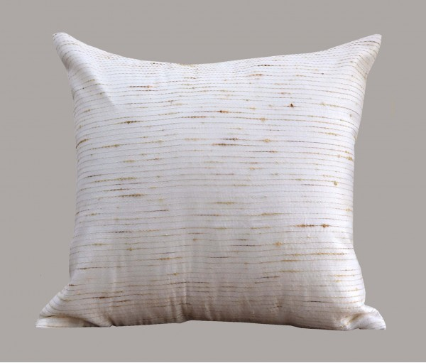 """Cream Jute Kantha Cotton Cushion Cover 12""""x12"""""""