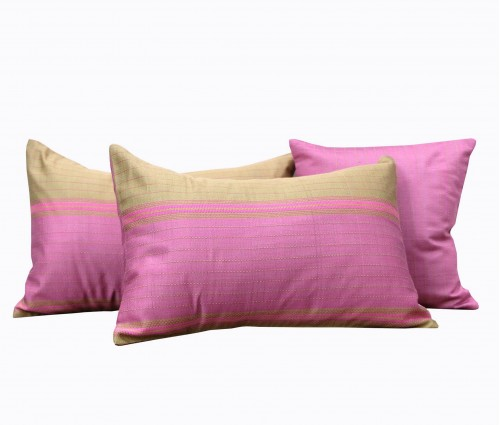 Set of 2 Pink Kantha Assorted Size Cushion Cover