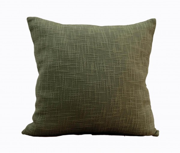 """Textured Green Solid Cushion Cover 20""""x20"""""""