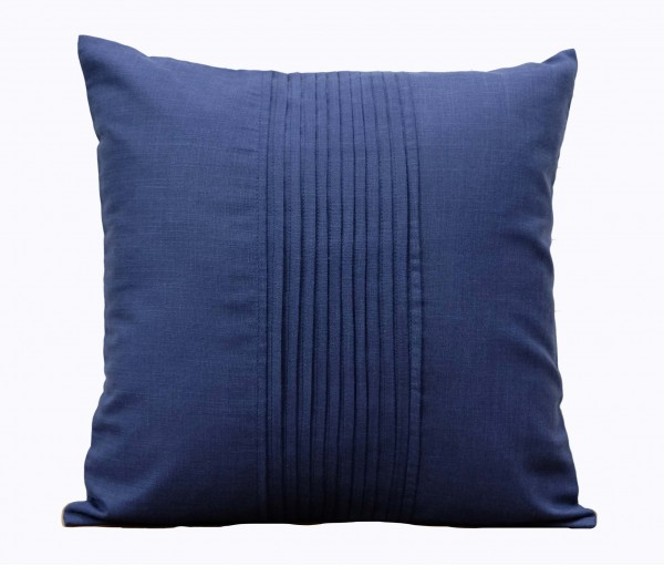 """Solid Navy Matka Cotton Cushion Cover 16""""x16"""""""