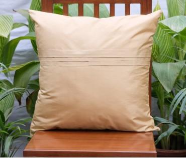 """Beige Silk Blend Plain Cushion Cover (20""""x20"""")"""