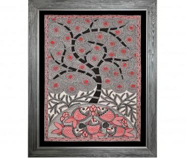 Madhubani Painting on Handmade Paper | 18x24 Inch