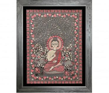 Madhubani Painting on Handmade Paper | 22x30 Inch