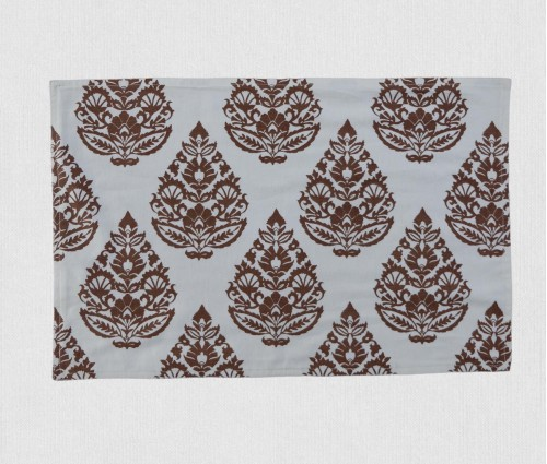 Cream & Brown Rajwarah Hand Printed Table Mat