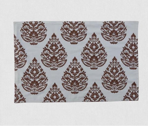 Cream & Brown Rajwarah Hand Printed Table Mat