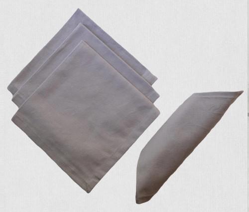 Dark Grey Solid Cotton Table Napkin (set Of 4)