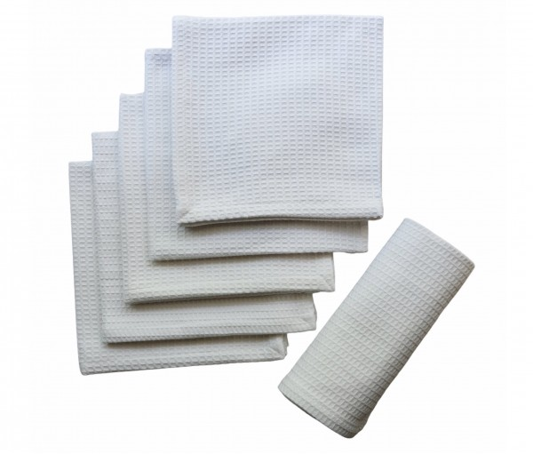 White Solid Cotton Honeycomb Table Napkin (set Of 6)