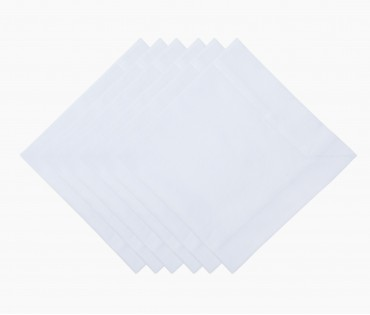Ivory Solid Cotton Table Napkin (Set of 6)