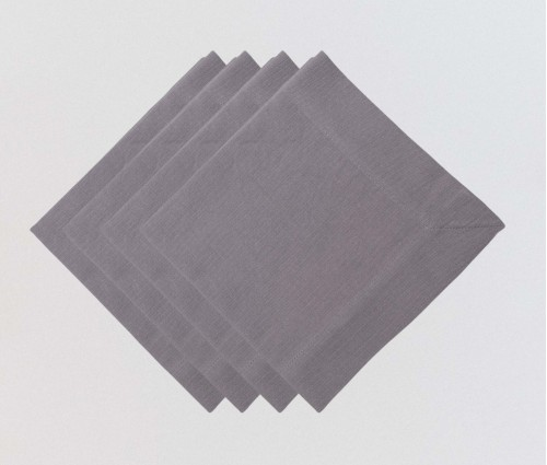 Graphite Solid Cotton Table Napkin (Set of 6)