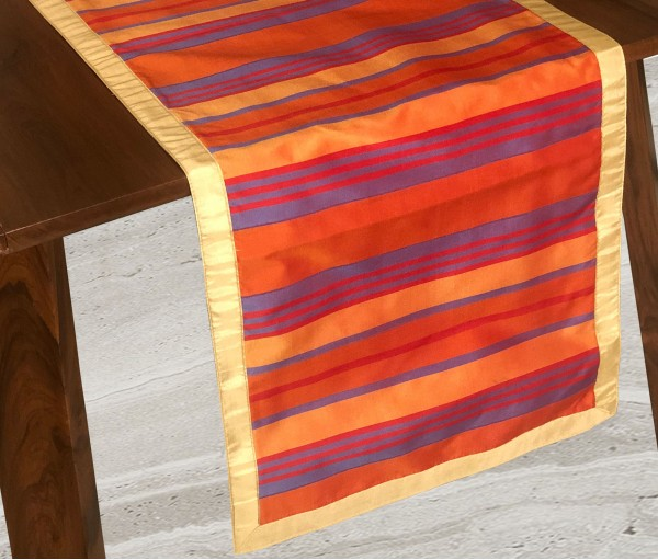 Multicolor Tafeta Stripe Table Runner