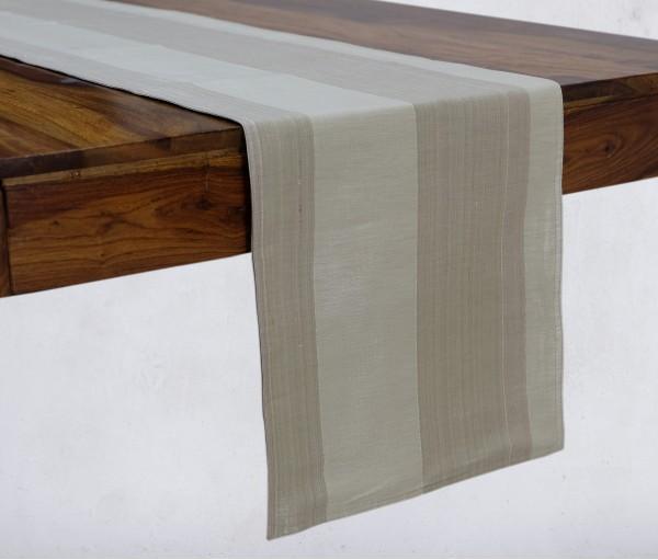 "PASTEL GREEN SILK TABLE RUNNER (13""X84"")"