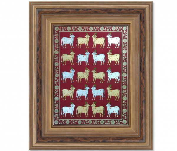 PICHWAI PAINTING ON CLOTH | FESTIVAL OF COW | 24X36 (INCH)