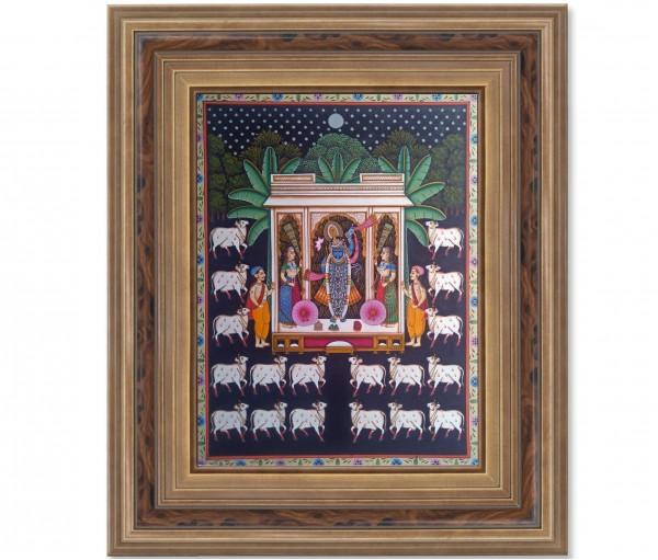 Pichwai Painting On Cloth | Shrinath & Worship 3 | 18x24 Inch