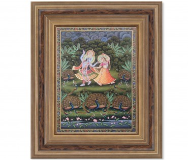 Pichwai Painting On Cloth | Radha Krishna | 24x36 Inch