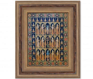 Pichwai Painting On Cloth | Shrinath & Gopi | 48x48 Inch