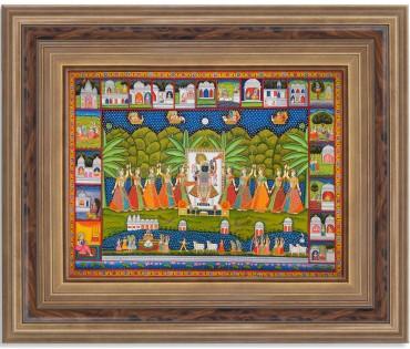 Pichwai Painting On Cloth | Shrinath & Tales | 48x36 Inch