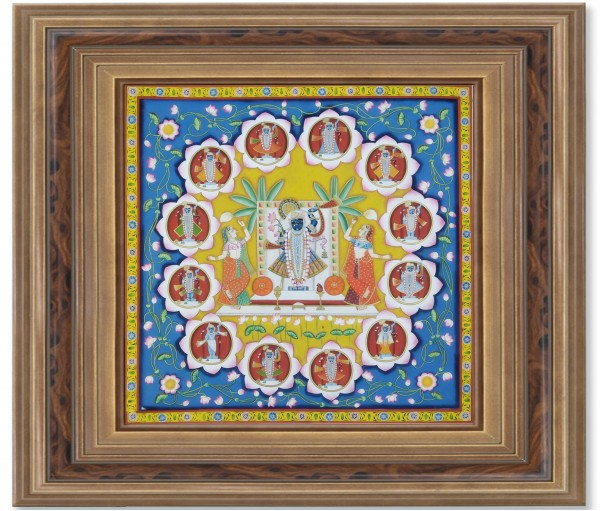 Pichwai Painting On Cloth | Shrinath & Roop | 36x36 Inch