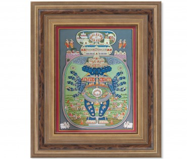 Pichwai Painting On Cloth | Lord Shrinath | 48x72 Inch